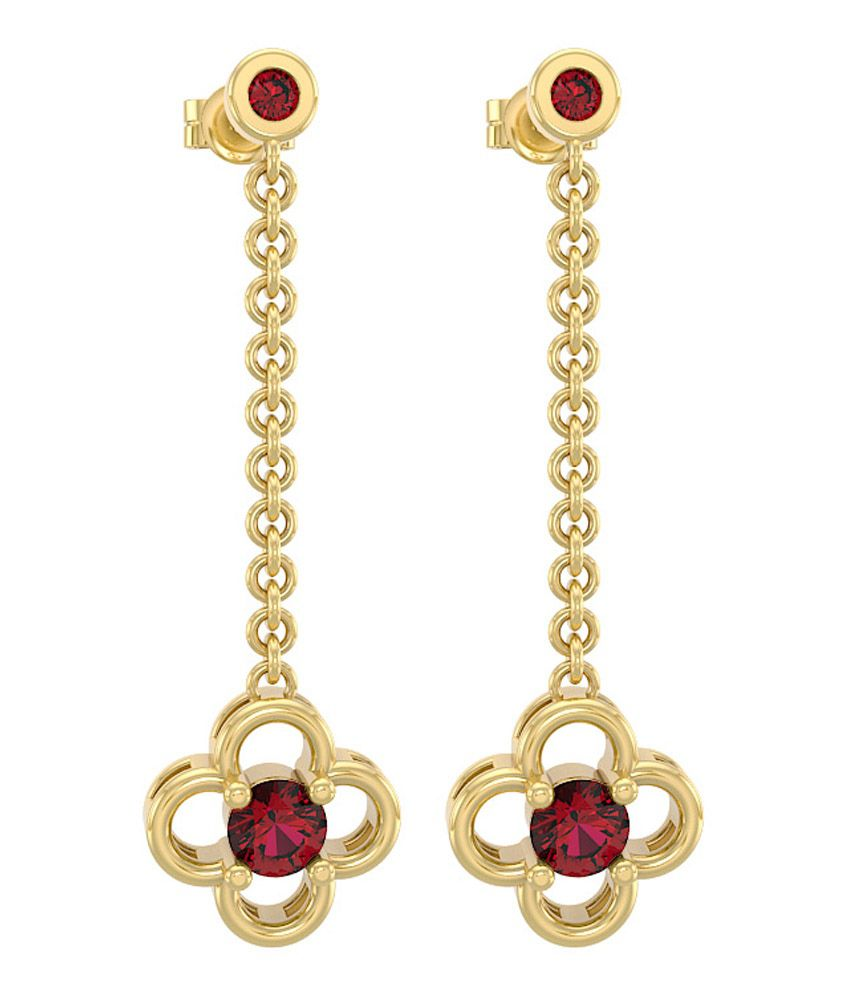 Drop Ruby earrings indian rare photo