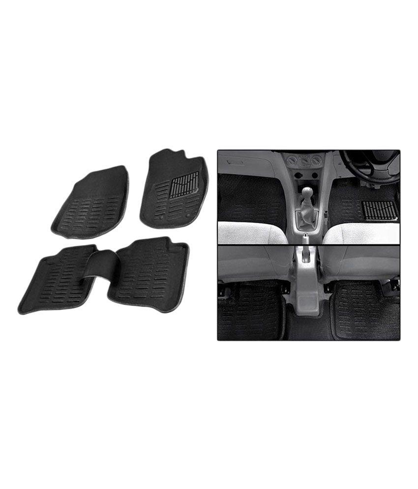 Grey Car Foot Mats For Toyota Etios Liva Buy: Autosun Premium 3D Car Mat For Toyota Etios Liva -Black