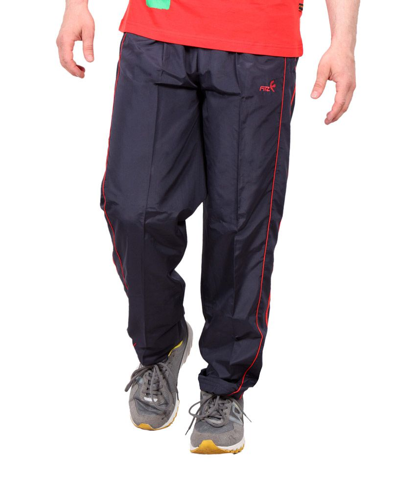 Fitz Navy Polyester Trackpant