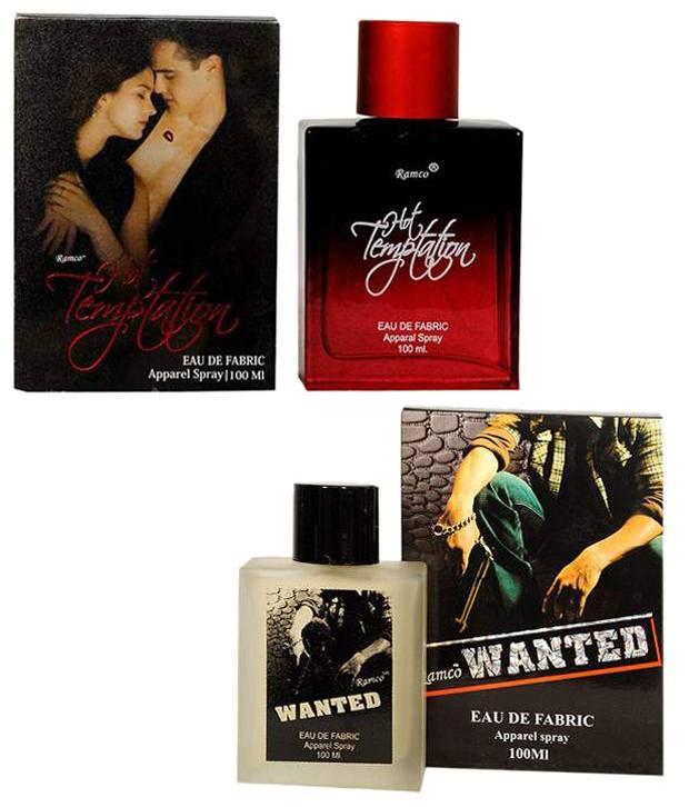 Ramco Hot Temptetion Eue De Fabric Apparel Spray and Wanted Eau De Fabric Perfume (60 ml each)