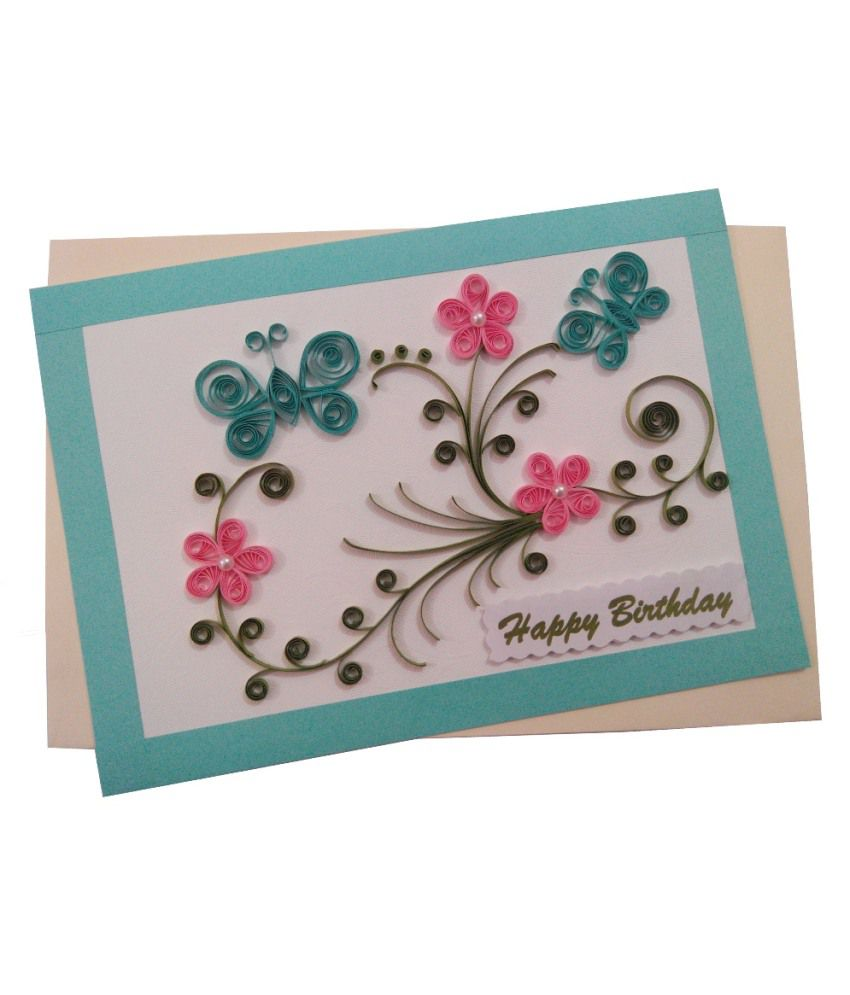 Mishti Creations Handmade Happy Birthday Greeting Card Buy Online At Best Price In India