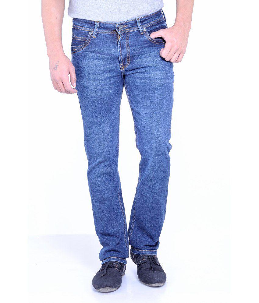 Moustache Blue Cotton Skinny Fit Jeans