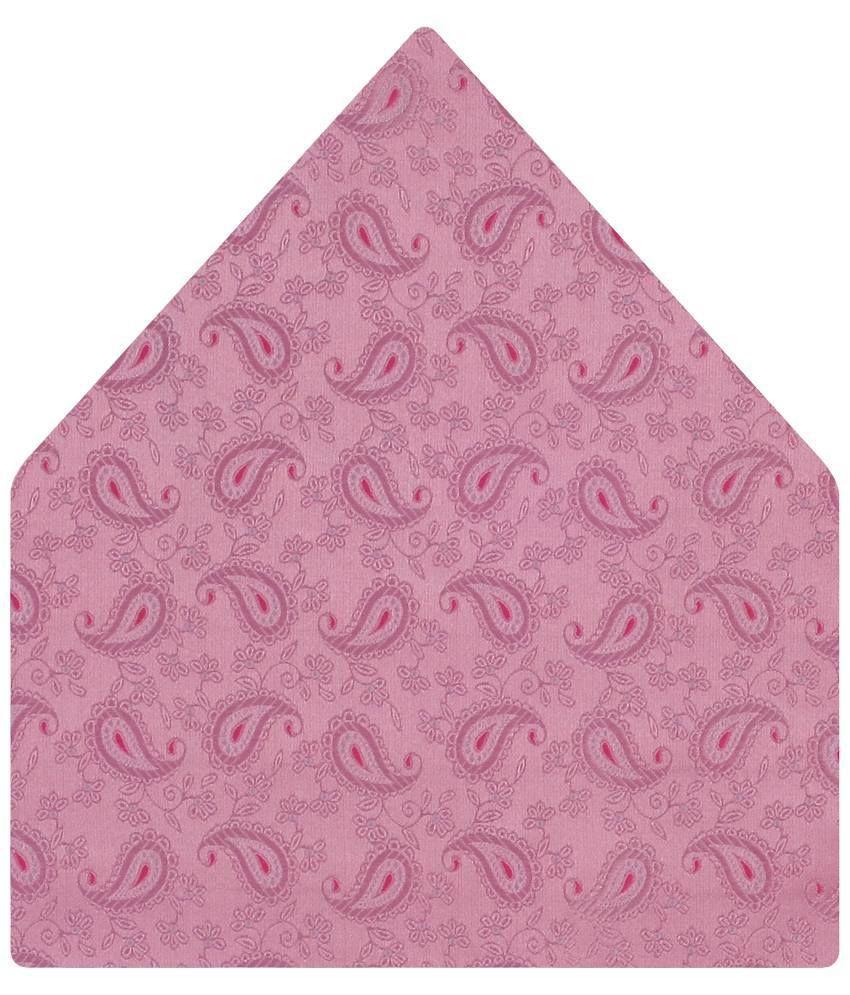 Tiekart Micro Fibre Go Soft Pink Paisley Pocket Square