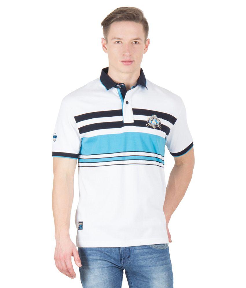 Wilkins & Tuscany 11655 Stylish White Turq T-shirt