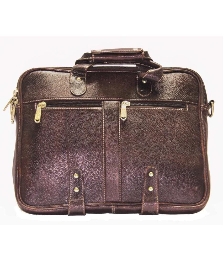 American-Elm Brown Leather Messenger Bag