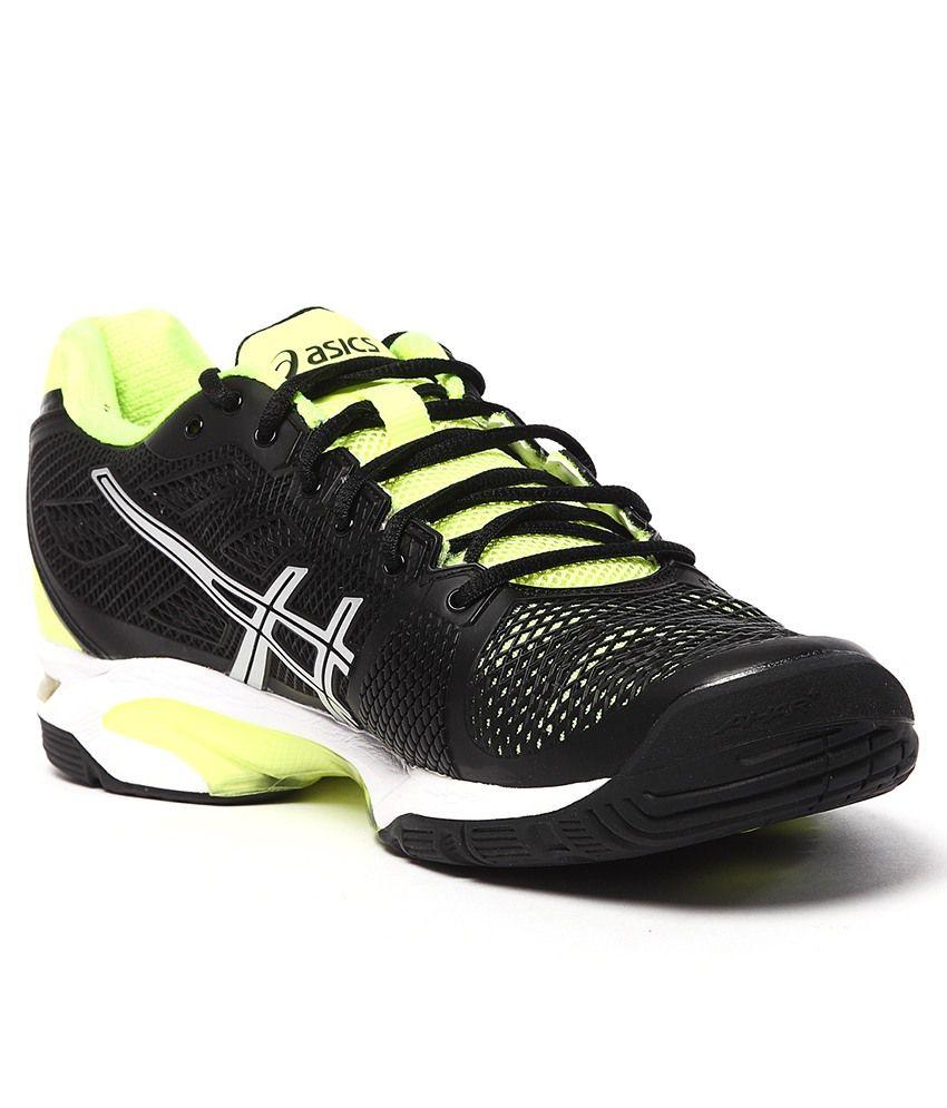 asics gel solution speed 2 black sport shoes buy asics. Black Bedroom Furniture Sets. Home Design Ideas