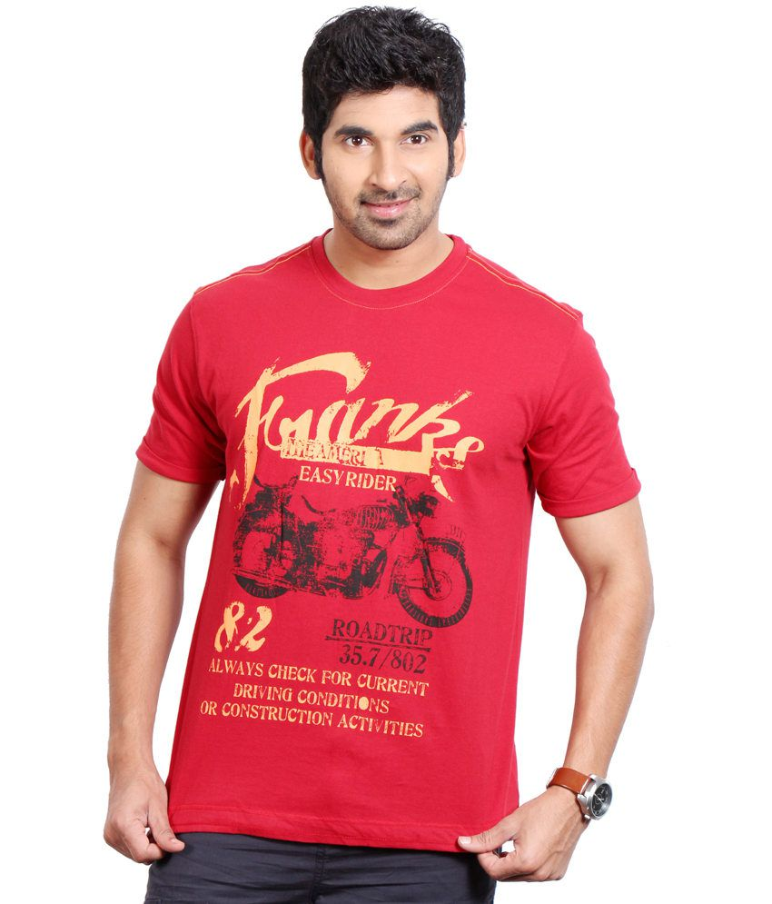 Fitz Red Cotton T-Shirt