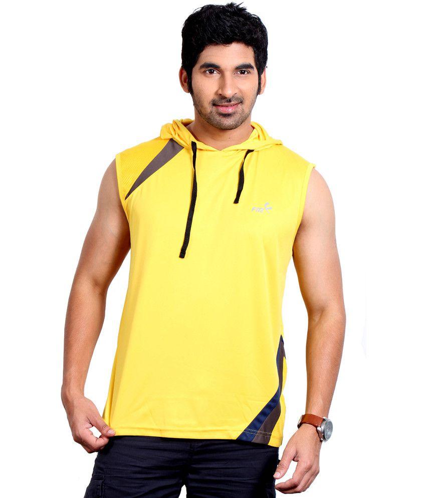 Fitz Yellow Polyester T-Shirt