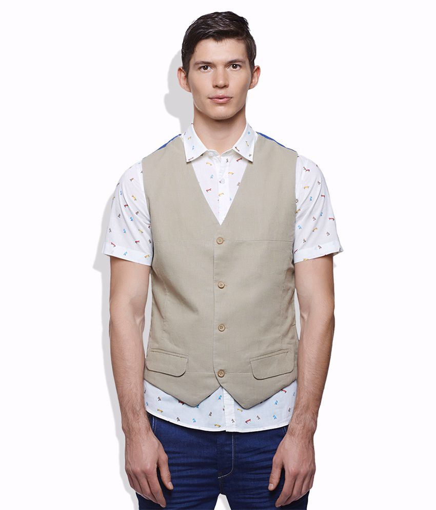 United Colors Of Benetton Beige Waistcoat