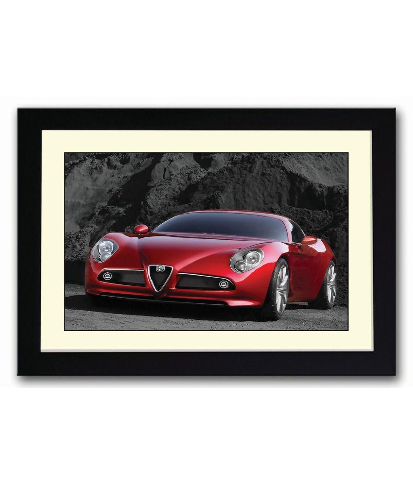 artifa amazing red sports car framed poster buy artifa
