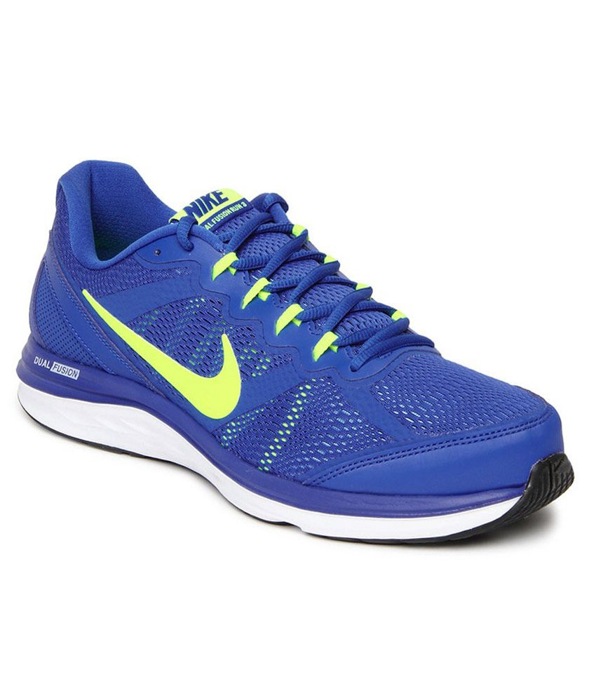 Nike Dual Fusion Run 3 Msl Blue Sport Shoes ...