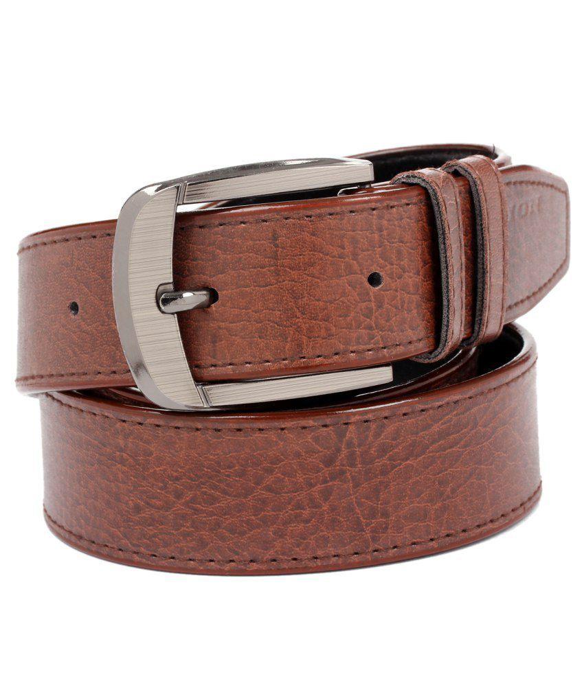 Porus Club Brown Non Leather Belt For Men