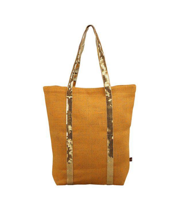 RishteyBags Orange Jute Shoulder Bag