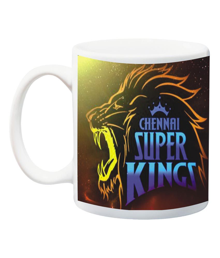5645cd058ce8 Dk Chennai Super King IPL Printed Mug  Buy Online at Best Price in India -  Snapdeal