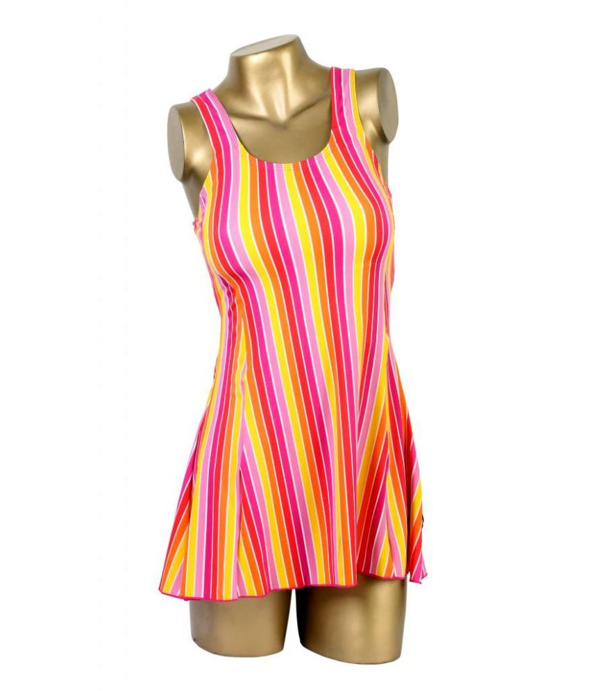 Indraprastha Multi Striped Swimsuit/ Swimming Costume