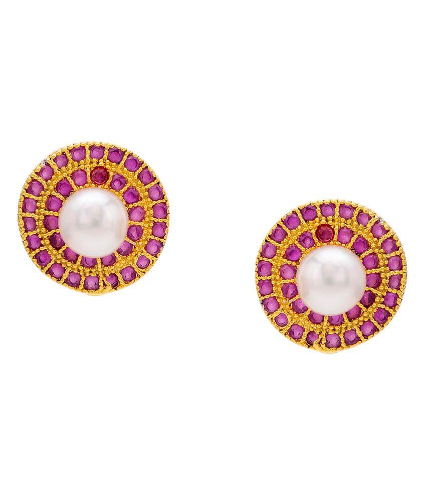 Krishna Pearls & Jewellers Style Diva Pearl Stud Earrings