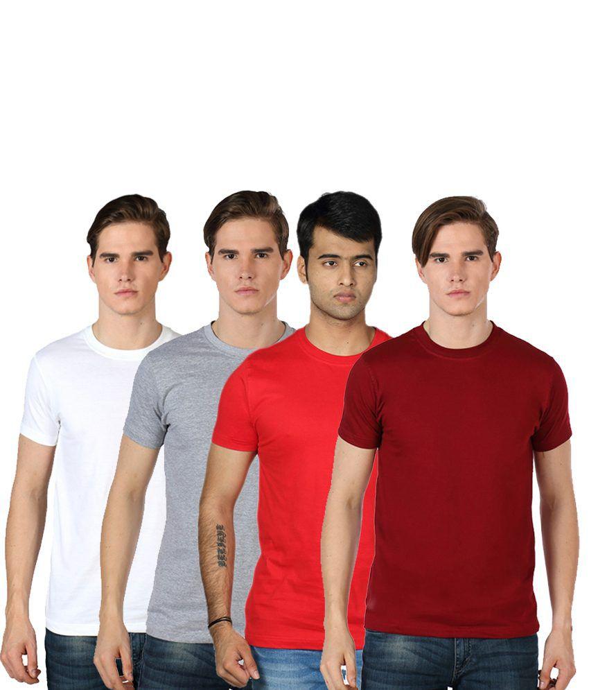 Rakshita's Mens round neck Tshirt Set of 4