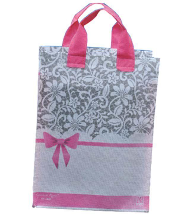Unique Media Pink Fibre Velcro Bag - Pack Of 50