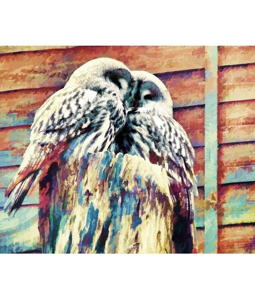 Wonder Images Pvt. Ltd. Beautiful White Owls Canvas Art