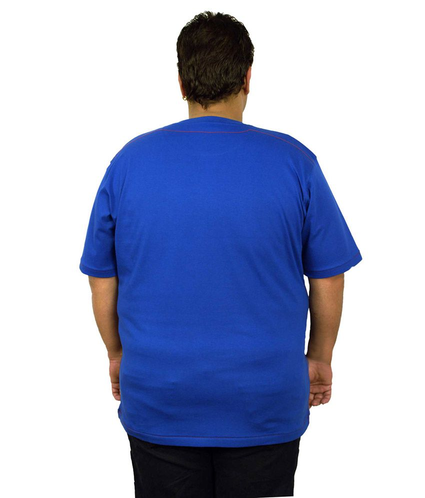 Xmex Blue Cotton Round Neck T Shirt