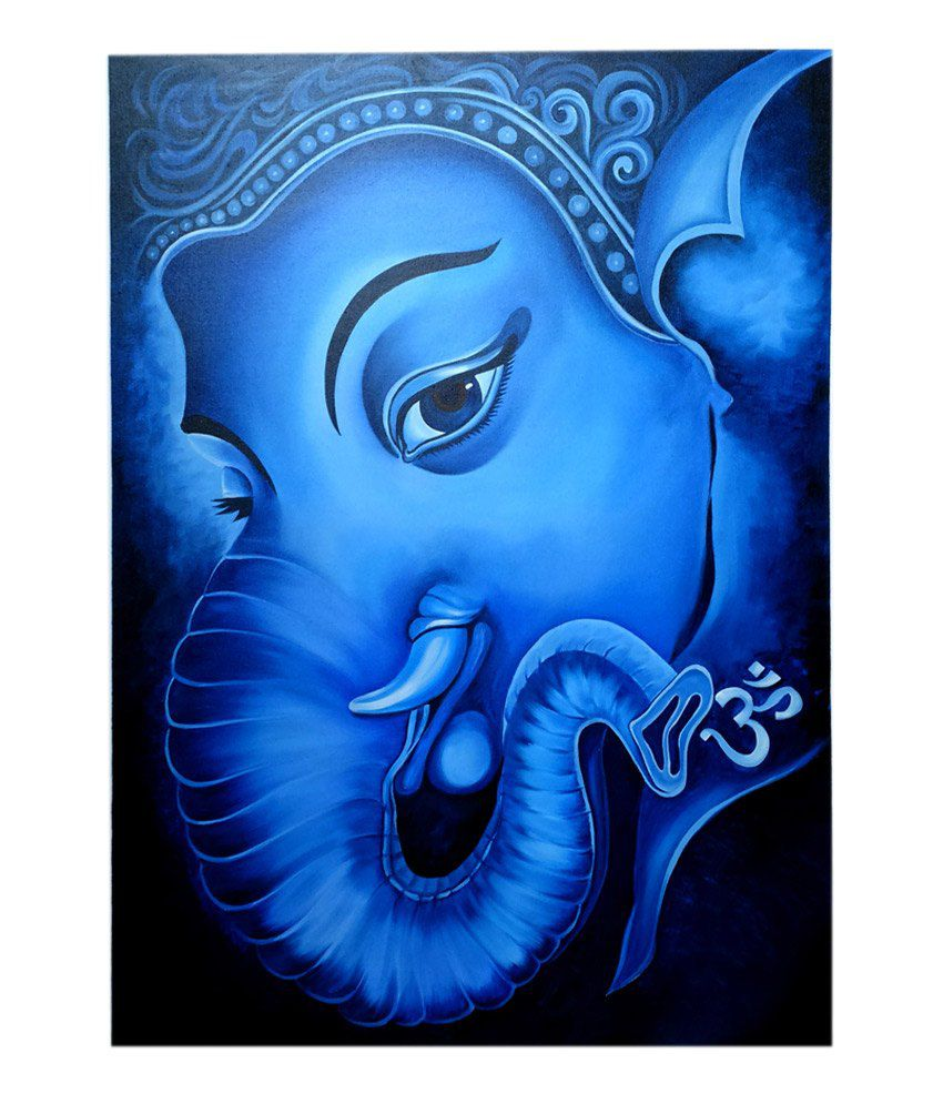 Altamira Lord Ganesha Oil Painting on Canvas 29.5 X 39.5 ...
