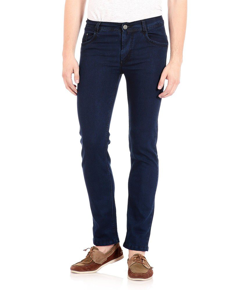 Flyjohn Men's Blue Denim Jeans