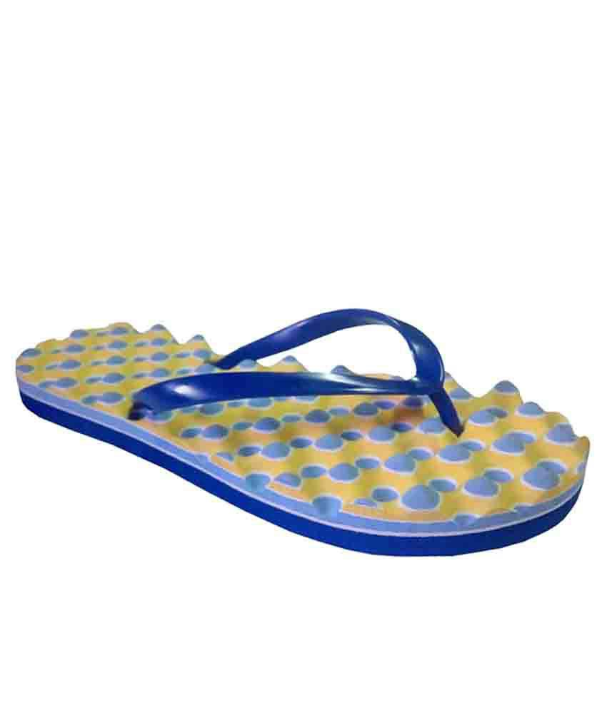 Unispeed Accupressure + Foot massage Blue flipflops