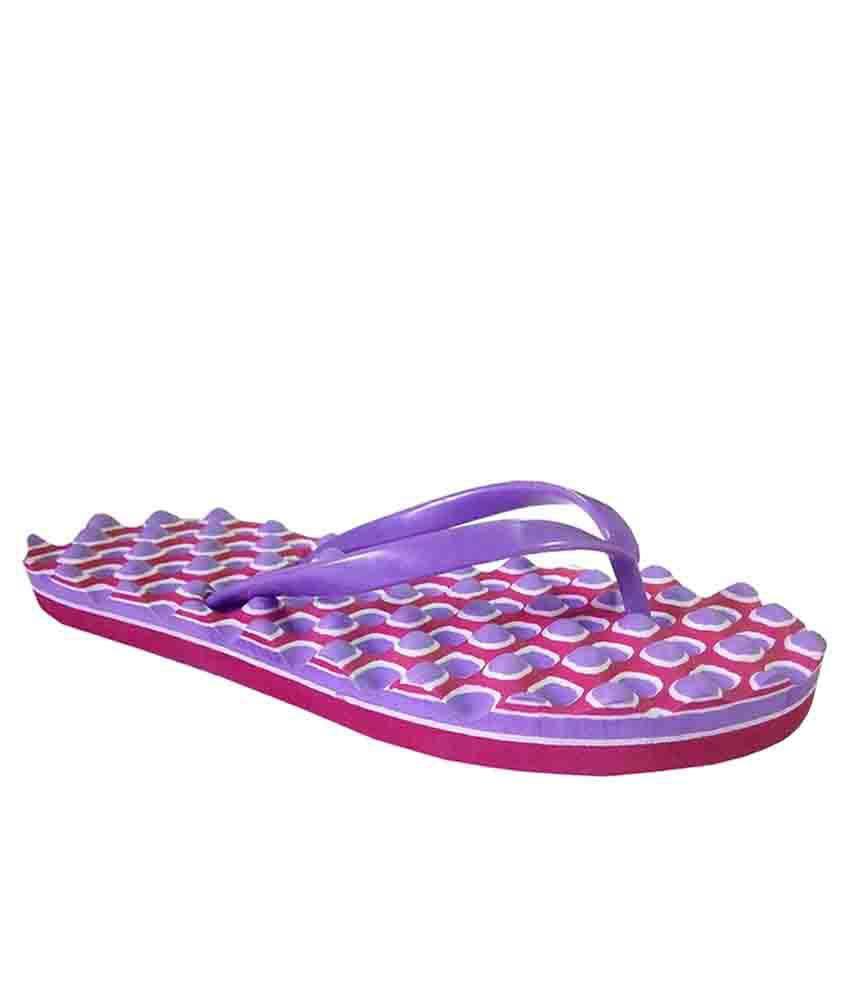 Unispeed Accupressure + Foot massage Purple flipflops