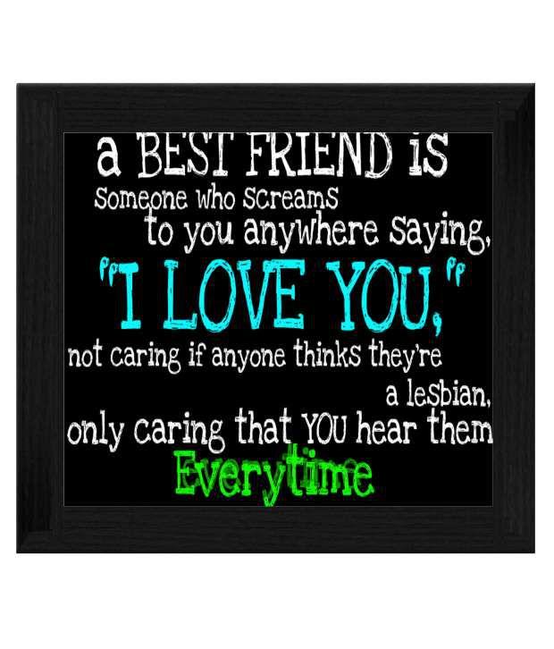 Ellicon Best Friend Quotes Tile Frame Buy Ellicon Best