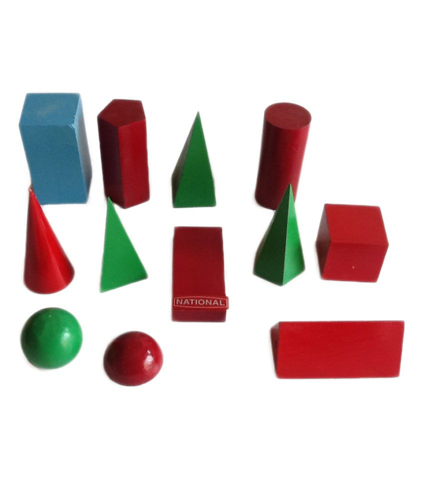 National Geometrical Figures - Set Of 12 Objects