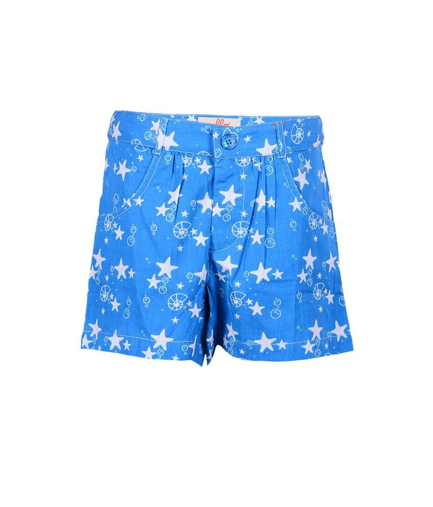 Ello Blue Printed Shorts For Kids