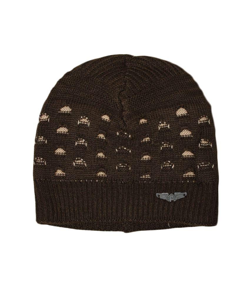 Enormous Enterprises Multicolour Casual Woolen Cap For Men