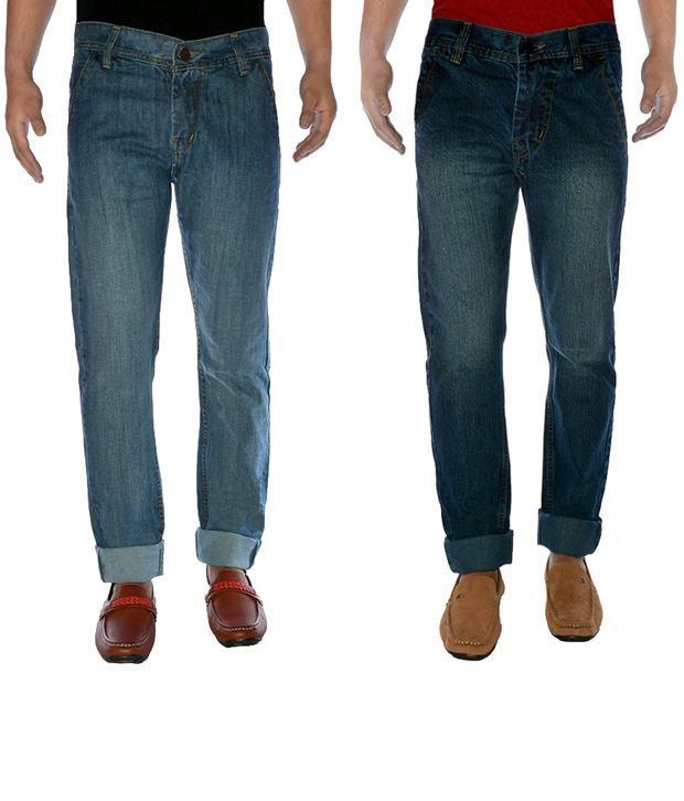 K-SAN Cotton Denim Jeans Pack Of 2