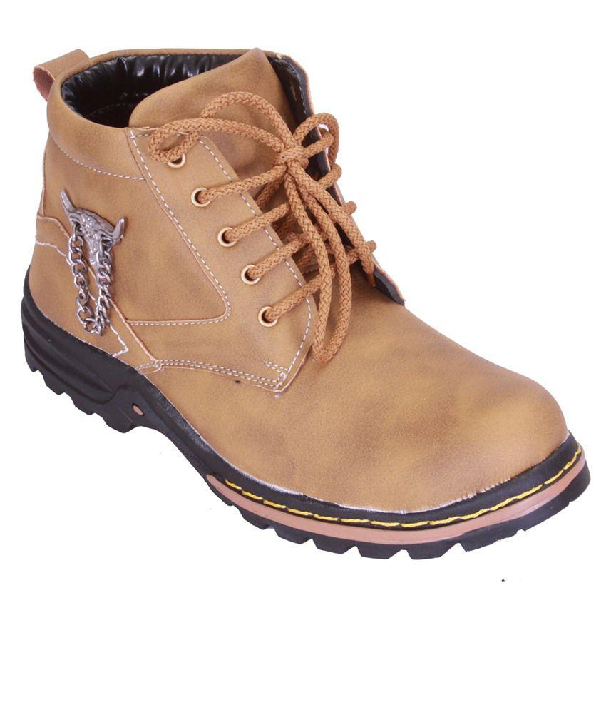 Shoebook Men's Tan Mid Length Boot