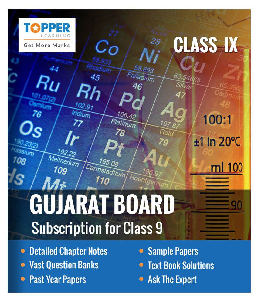 TopperLearning Annual Online Subscription for Gujarat Board Class 9