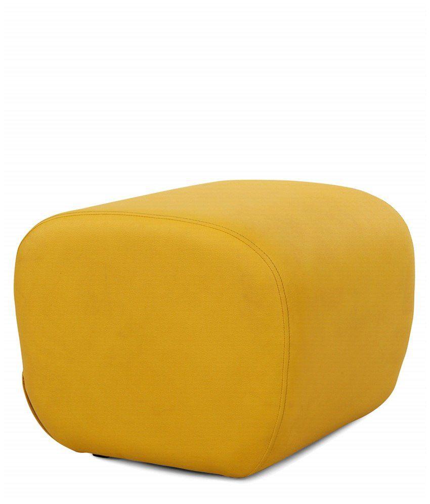 Arra Candy Ottoman Yellow