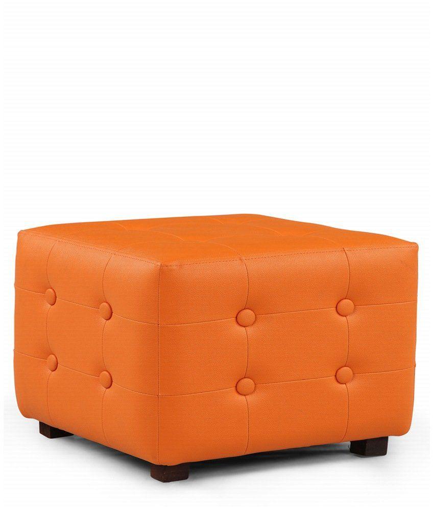 Arra Candy Square Ottoman Orange