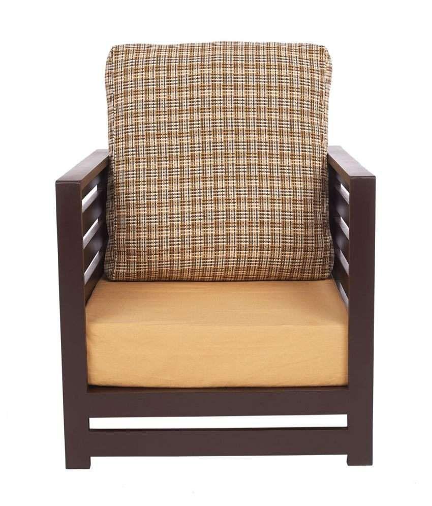 ARRA Jinjer Contemporary One Seater Sofa - Brown Delite