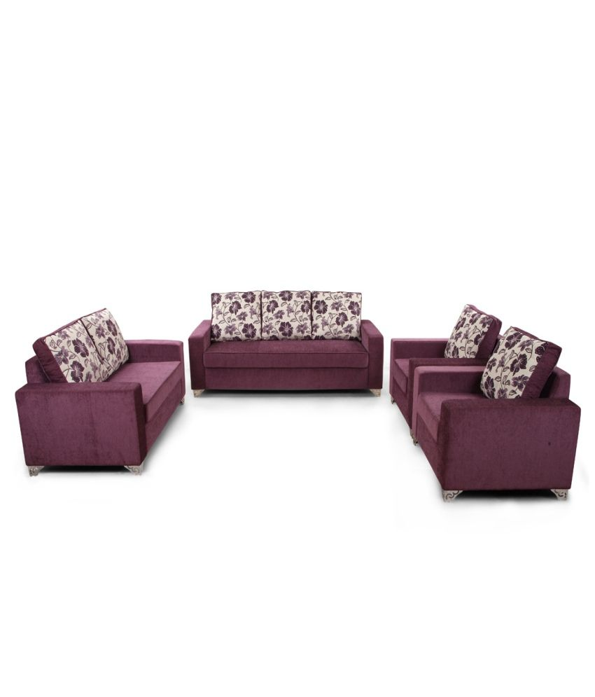 Corner Sofa Set Price In Hyderabad: ARRA Lexus Corner Sofa Purple Best Price In India On 31st