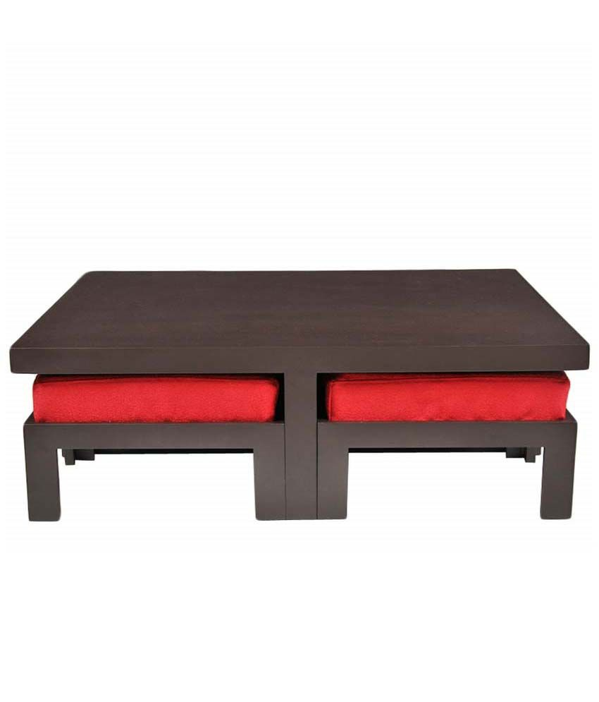 Buy trendy coffee table get four stools free red upholstery buy trendy coffee table get four stools free red upholstery geotapseo Image collections