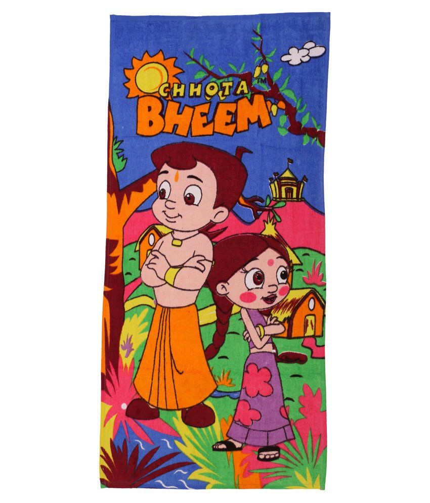 Chhota Bheem Blue & Yellow Baby themes Towels