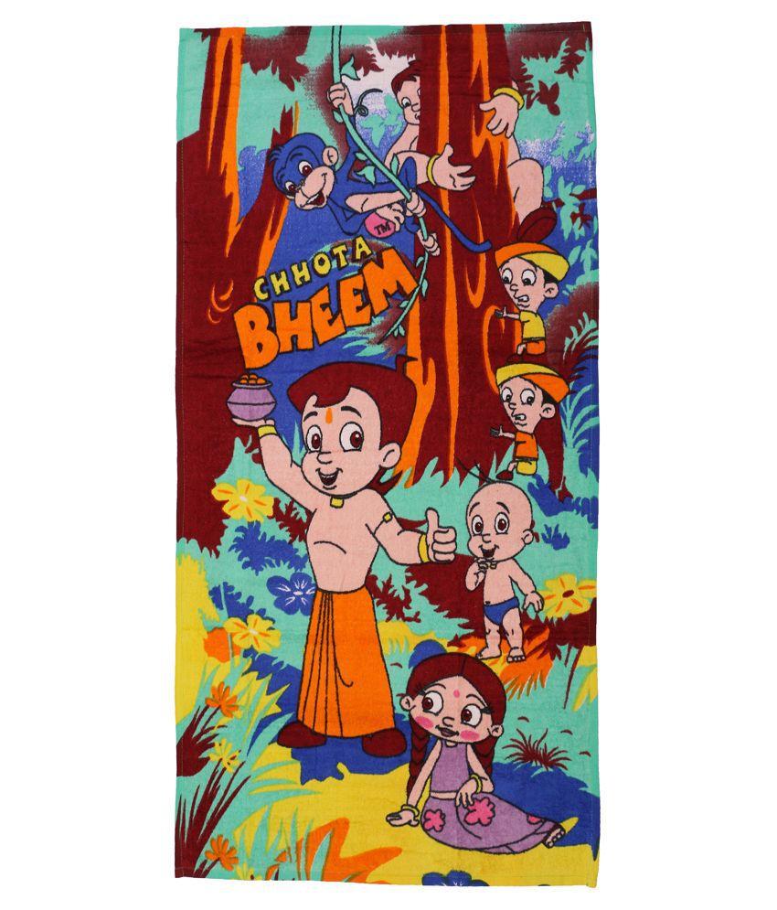 Chhota Bheem Orange & Blue Baby themes Towels