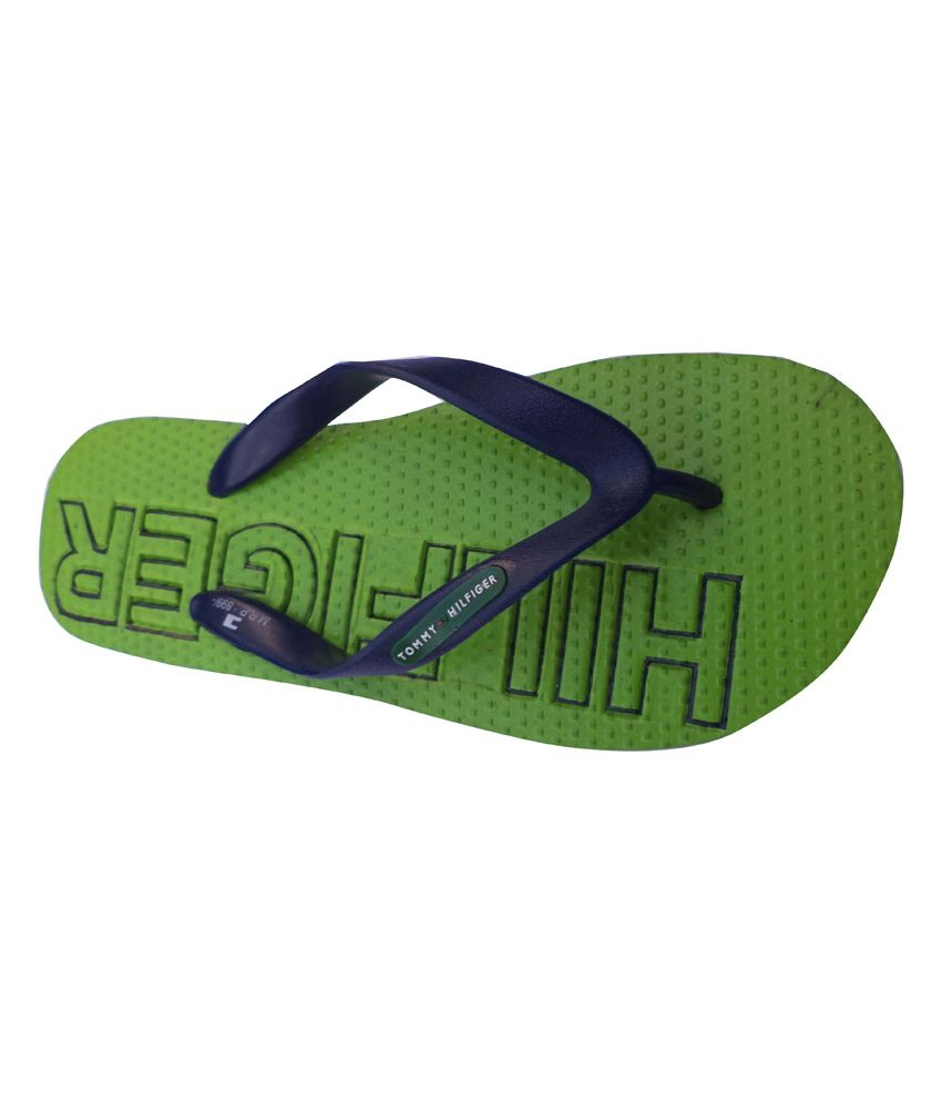 c3377b69f Tommy Hilfiger Green Slippers Price in India- Buy Tommy Hilfiger ...