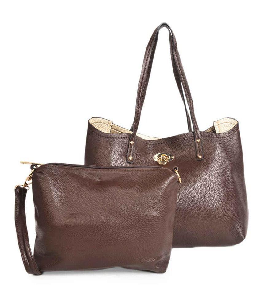 ADISA Brown P.U. Shoulder Bag