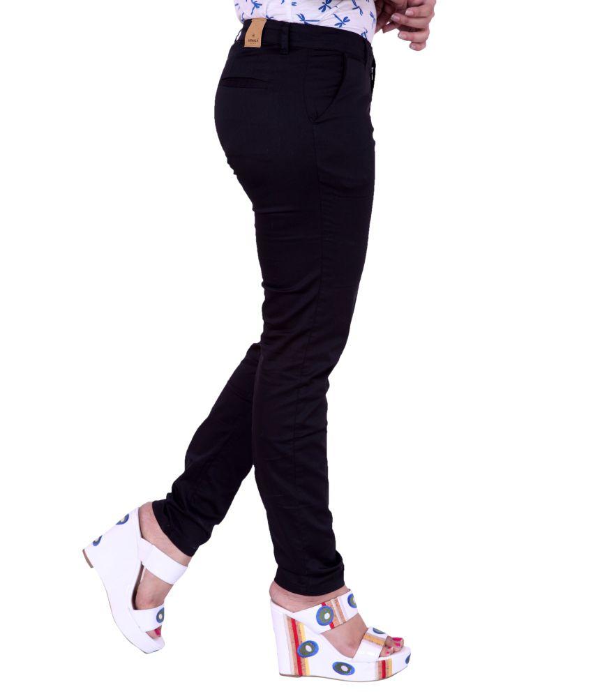 Airwalk Black Cotton Lycra Trousers Airwalk Black Cotton Lycra Trousers ... 7d2455266815