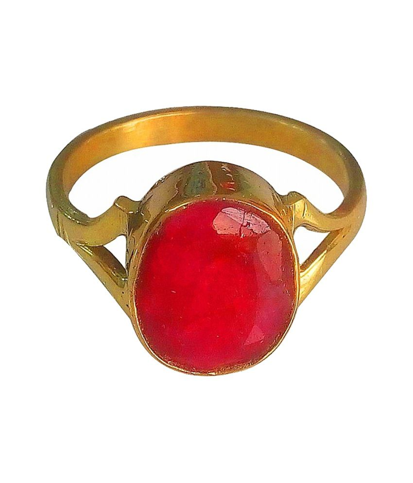 Asian Gems & Jewels Cultured Ruby / Manik Finger Ring (Panch Dhaatu) Of 4.25 Ratti