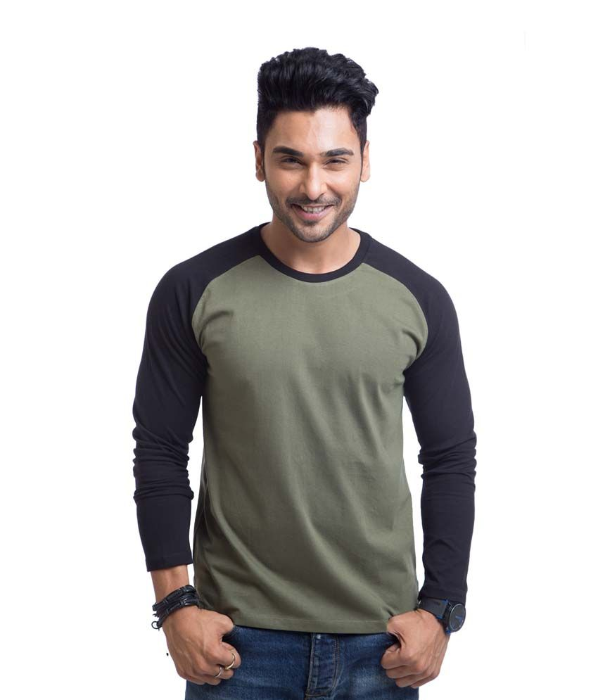 Cult Fiction Black Cotton Round Neck Full Sleeves Shirt