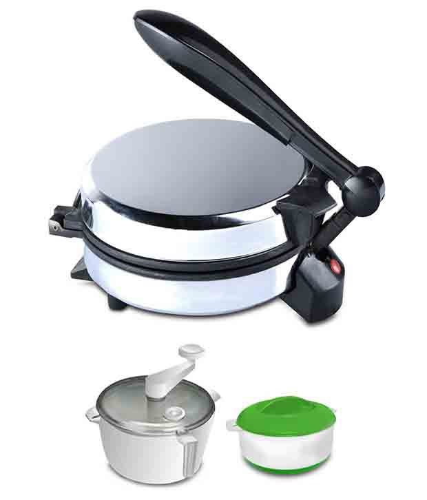 Branded Roti Maker + Dough Maker Combo with Free Casserole