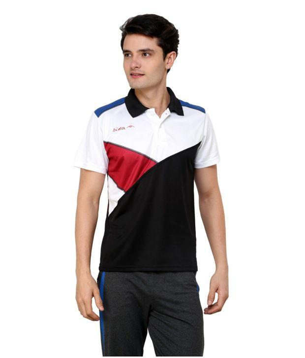 Dida  Black Sublimated Polo T-shirt