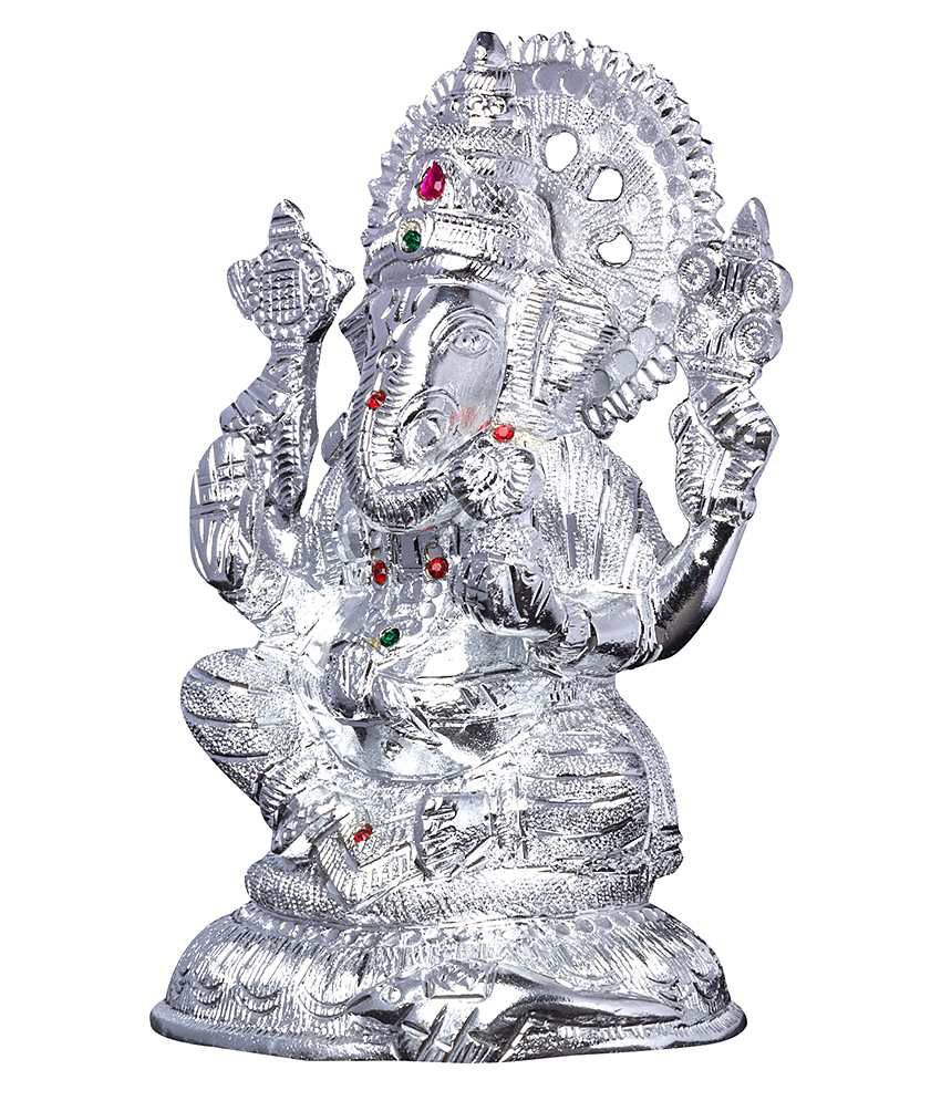 Mangal Handcrafted White Metal Ganesh Idol 8 5k Buy Mangal